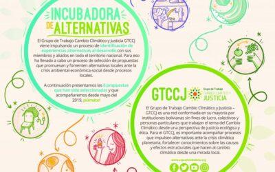 Incubadora de alternativas del GTCCJ: Conoce a seis experiencias ante la crisis ambiental-social