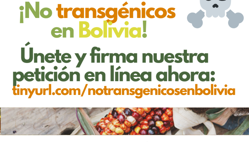 Peticion URL Transgenicos GTCCJ Bolivia RRSS