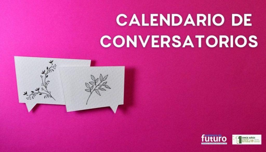 Calendario de Conversatorios GTCCJ AdF 2020